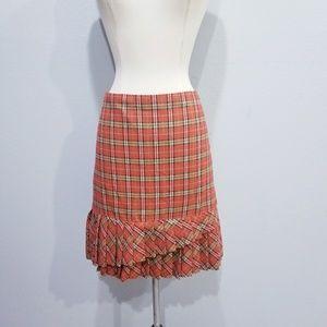 Ann Taylor LOFT plaid holiday skirt 8